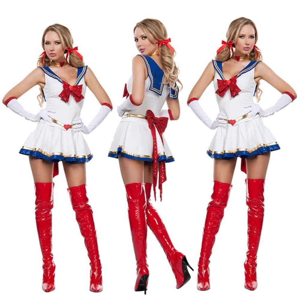earlyad Jugar Disfraz Halloween Sexy Sailor Moon Mercury Disfraz ...