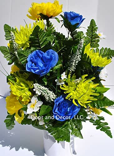 Cemetery decorations grave decorations for Decorate with flowers amazon