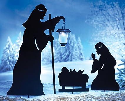 Amazon Com Outdoor Solar Christmas Decorations Nativity Shadow