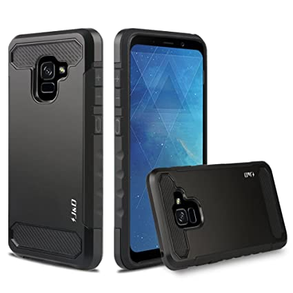 promo code 779cf 12f58 J&D Case Compatible for Galaxy A8 Plus 2018 Case, Heavy Duty [Carbon Fiber]  [Dual Layer] Hybrid Shockproof Protective Rugged Case for Samsung Galaxy ...