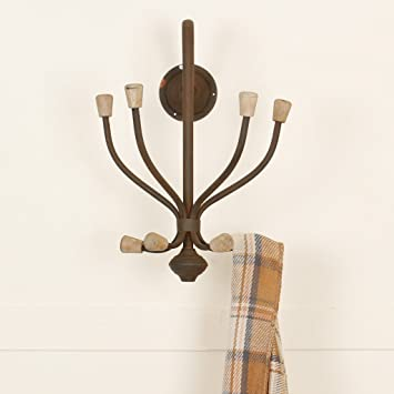Antique Brown Rustic Wall Mounted Coat Rack Hook - unusual alternative to traditional hat and coat & Antique Brown Rustic Wall Mounted Coat Rack Hook - unusual ...