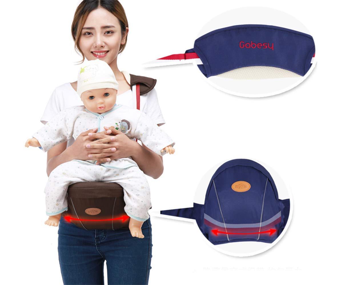 Gabesy Portabeb/é Erogon/ómico Cintura Ajustable Asiento para Bebes con Tirantes de Cuello Multiples Posiciones C/ómoda Hebilla Resisternte Beb/é de 4-36 meses Violet