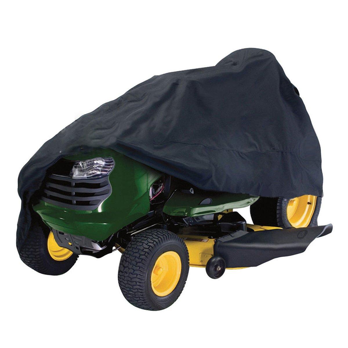 dDanke impermeabile resistente ai raggi UV antipolvere leggero poliestere Oxford trattore tosaerba copertura 245*50*140cm (nero)