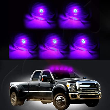 Clear Lens Marker Running Lamps Cover case with Base Housing Fits Truck 4x4 Replacement fit ford 1980-1997 E150 E250 E350 F450 F550 Super Duty cciyu 5x Top Cab Roof WHITE LED Lights