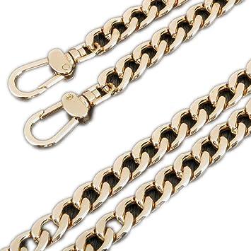 Amazon.com: Ancho 12 mm. cadena dorada para bolsas de mujer ...