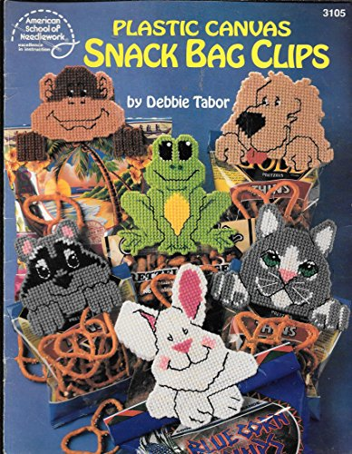 Plastic Canvas Snack Bag Clips by American School of Needleworks (Leaflet 3105)