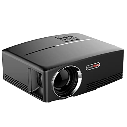 "Docooler GP80 Projecteur 1080P Full Color 180"" Projecteur LED 1800 Lumens 800 * 480 pixels 2200: 1 Rapport de contraste Projecteur Portable avec Support HDMI / VGA / AV / 2 Port USB"