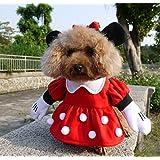 NACOCO Pet Clothes Pet Costume Minnie Costumes Dog Clothes Cat Costumes Pet Apparel