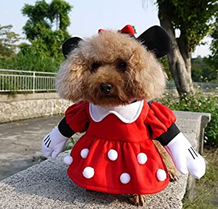 Nacoco Pet Clothes Pet Costume Minnie Costumes Dog Clothes Pet Apparel Medium