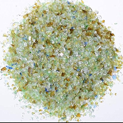 Earthtone Mix Green Terrazzo Glass - American Specialty Glass - Flooring, Countertop, Concrete, Terrazzo Glass - 10 LB, Size 0