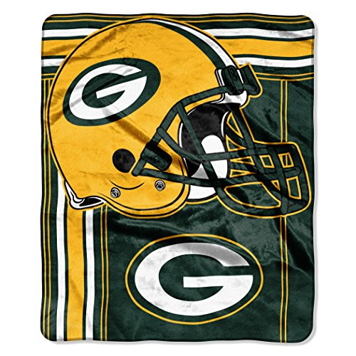 - The Northwest Company NFL Green Bay Packers Touchback Plush Raschel Throw, 50