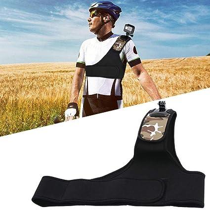 Einzelner Schultergurt, Schulter-Rucksack für den Rucksack Sport Kamera Universal-Schnellverschluss-Halterungen Handgelenksha