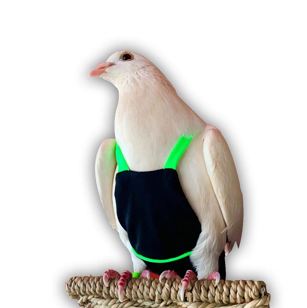 Bev's Bird Boutique - Black and Lime Green Flyper (Open Back Design) (7) by Bev's Bird Boutique