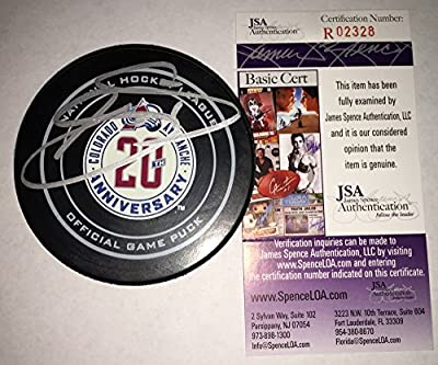 Joe Sakic Signed / Autographed Colorado Avalanche 20th Anniversary Game Model Hockey Puck - JSA Certified