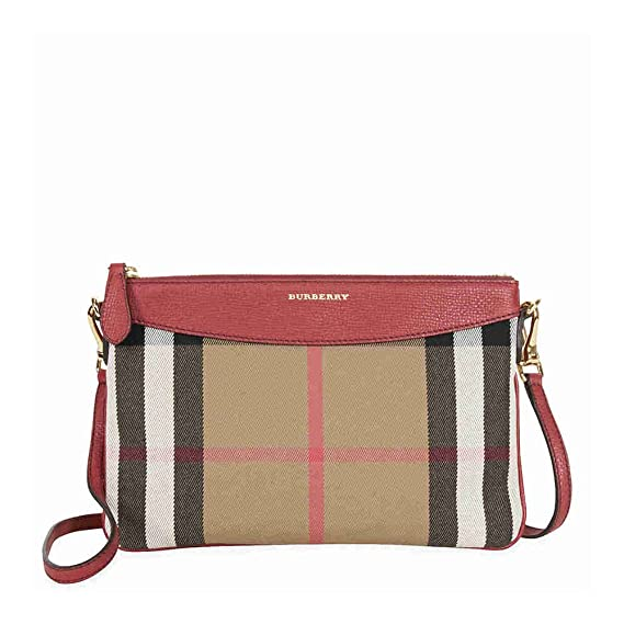 c1e55abf6c20 Burberry Horseferry Check Leather Clutch - Russet Red  Amazon.ca  Watches