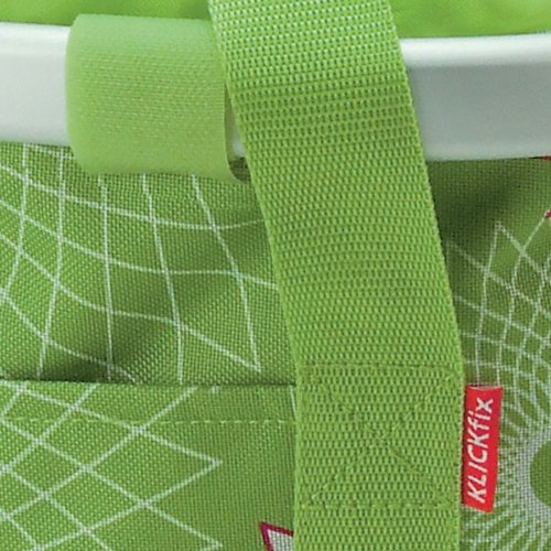 KlickFix Front Handlebar Basket Rixen & Kaul Bike basket Crystals lime green by KlickFix (Image #2)