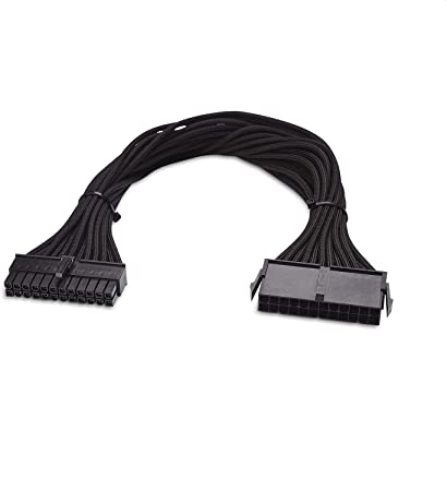 Heaven2017 Motherboard 24 Pin Male to Female Power Cable