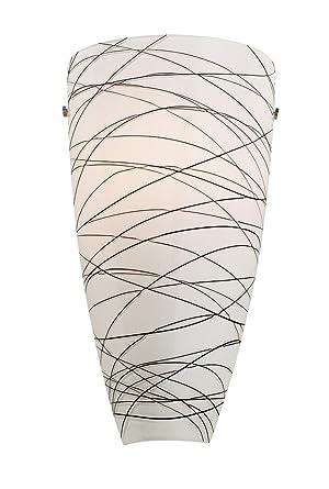 Possini Euro 13 1/4 H Black Striped Art Glass Wall Sconce - - Amazon.com
