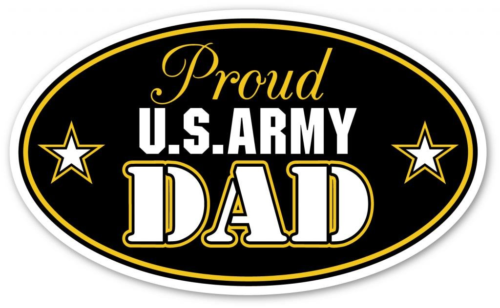 Amazon com proud us army dad support our troops euro vinyl decal bumper sticker perfect for car wall window laptop motorcycle bike helmet and any