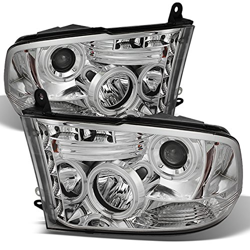- For 2009-2018 Ram Pickup Truck Chrome Clear Dual CCFL Halo Ring LED Projector Headlights Replacement Pair