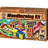 Wood Burning Kit with U.L. Listed Woodburning Pen, Pre-Cut Wood Sheets, Slats, Leather & More