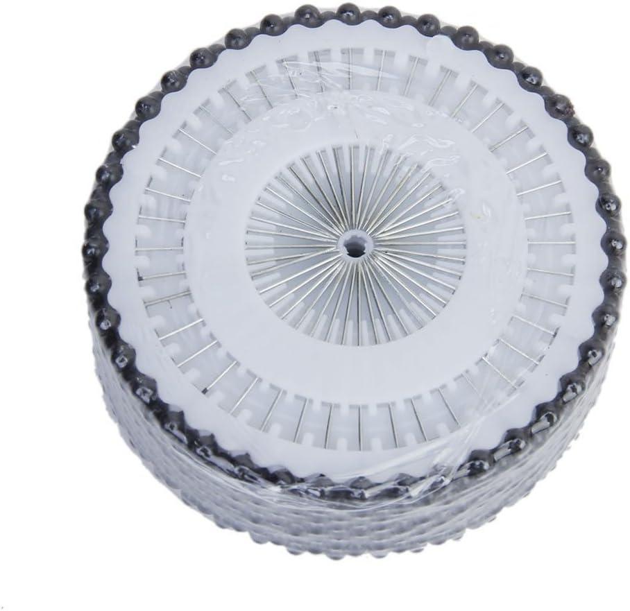 ounona alfileres rectos tac/ón cabeza perla para manualidades costura Fai Da Te 480/piezas negro