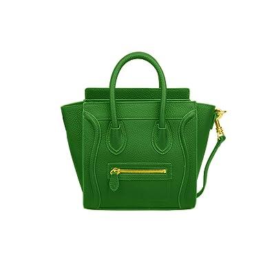 3655e77d7b9 Ainifeel Women s Smile Genuine Leather Small Crossbody Bag Messenger Bag ( Small