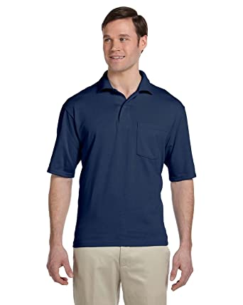 7e4e9a5b Jerzees 5.6 oz. 50/50 Jersey Pocket Polo with SpotShield at Amazon Men's  Clothing store: