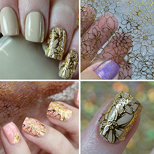1 Sheet Embossed 3D Nail Art Stickers Blooming Flower Decals Tips Decoration (Cat Embossed Sticker)
