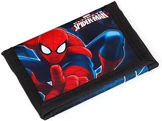 S A F T A - SPIDER-MAN, Portafogli Bambino Multicolore nero/blu 12;2 x 9 x 1,5 CM