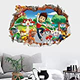 3D Wall Decal Children Themed Art Wall Sticker Home Decor Art Kids (Paw Patrol)