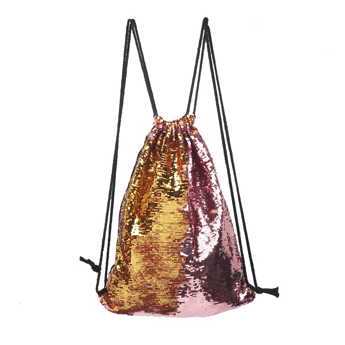 BEGOO Mermaid Reversible Sequin Drawstring Bag Colorful Backpack Magic Packsack