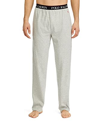 649f212d5 Polo Ralph Lauren Men s Supreme Comfort Knit PJ Pants Andover Heather Red Pony  Player Small
