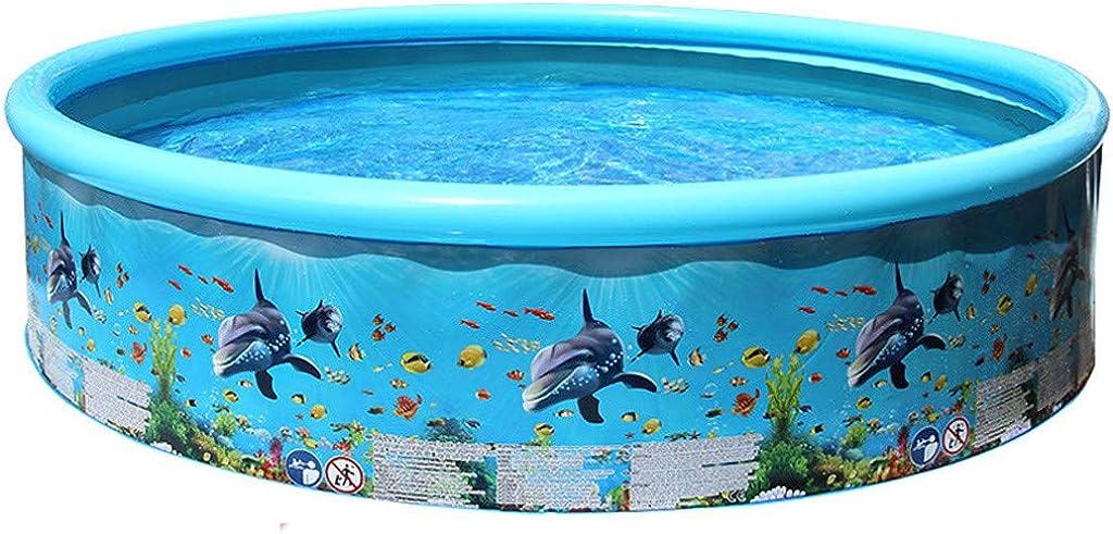 LHWY Familia Piscina Hinchable Infantil Redondas Pequeña y Grande, Verano Piscinas Desmontables Nadando para Niños Bebés, Pool Inflable Perfecto para Terrazas Jardín Interior
