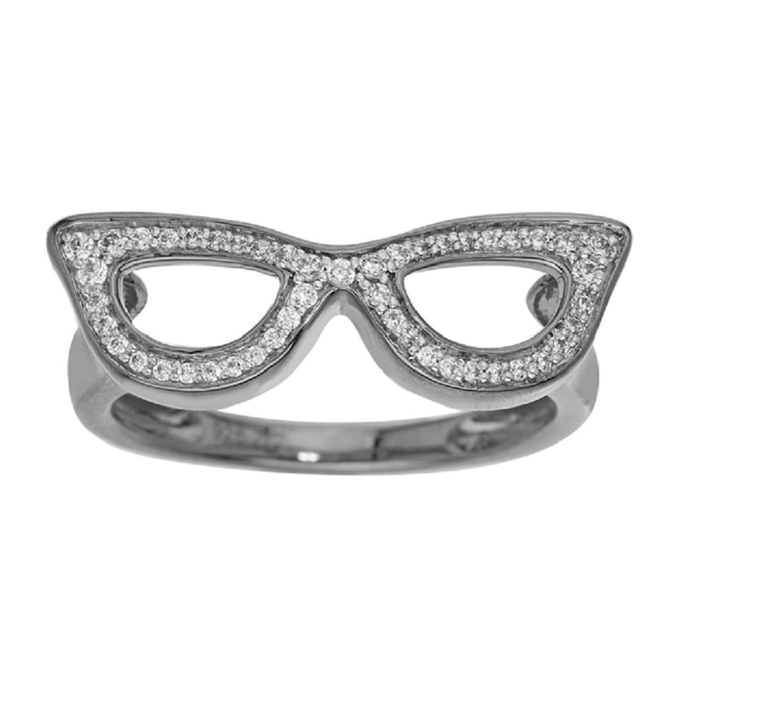 Sunglasses Diamond Ring in Sterling Silver