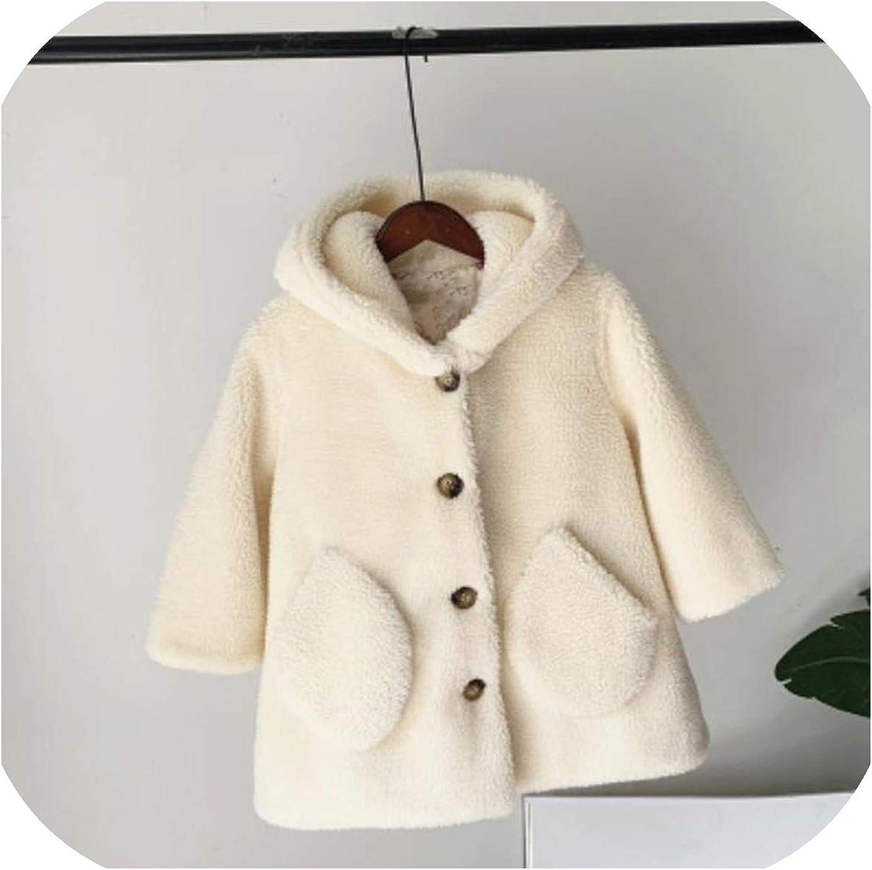 Toddler Girls Kids Faux Fur Teddy Bear Jacket Winter Thick Fleece Coats Outwear