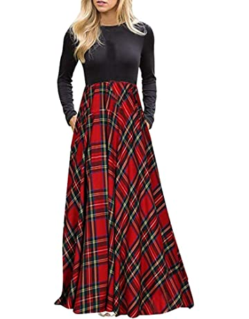 amazon plaid Maxi Dress