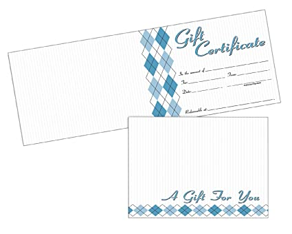 amazon com adams gift certificate cards 20 folded cards and