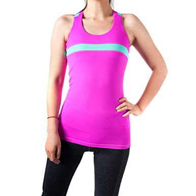 224ba0459 WW SPORTOWN Women s Energy Strappy Cross Back Running Yoga Top Tank with Shelf  Bra