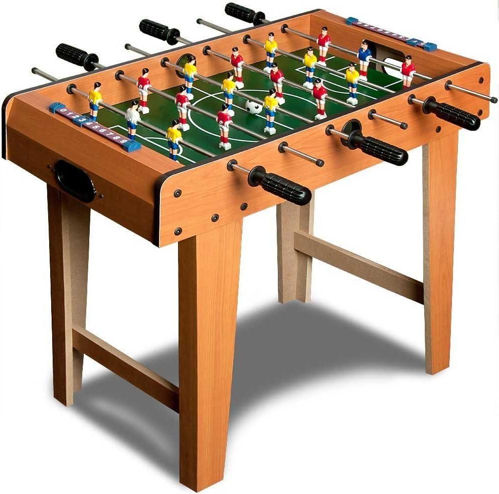 Bakaji - Mini futbolín de madera MDF (fibra de densidad media) para niños con 6 barras y 2 bolas, 69 x 37 x 64 (h) cm: Amazon.es: Juguetes y juegos