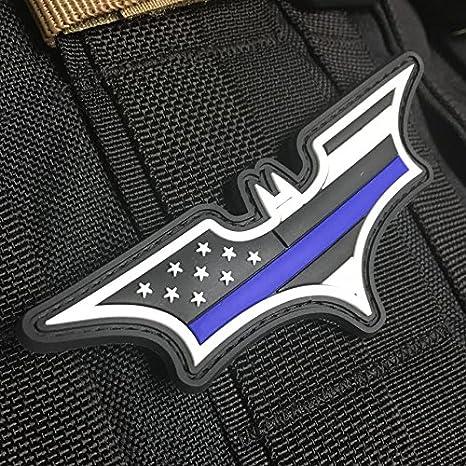 Delgada línea Azul Americano Bandera Parche – Dark Knight Edición: Amazon.es: Deportes y aire libre