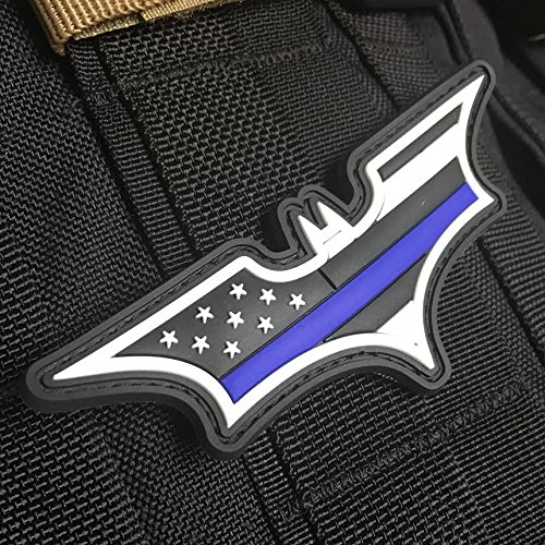 Thin Blue Line American Flag Patch - Dark Knight Edition