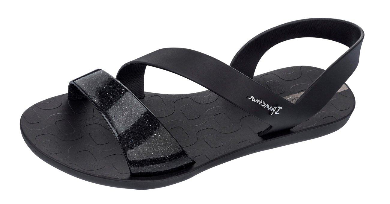 Ipanema Womens Black Vibe Sandals  35/36 EU|Black