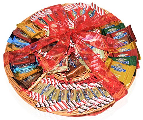 Ghirardelli Christmas Assorted Squares - 41 Piece - Christmas Chocolate Variety Gift Basket - 13.5