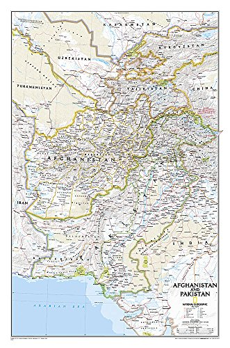 National Geographic: Afghanistan, Pakistan Wall Map (21.5 x 32.5 inches) (National Geographic...