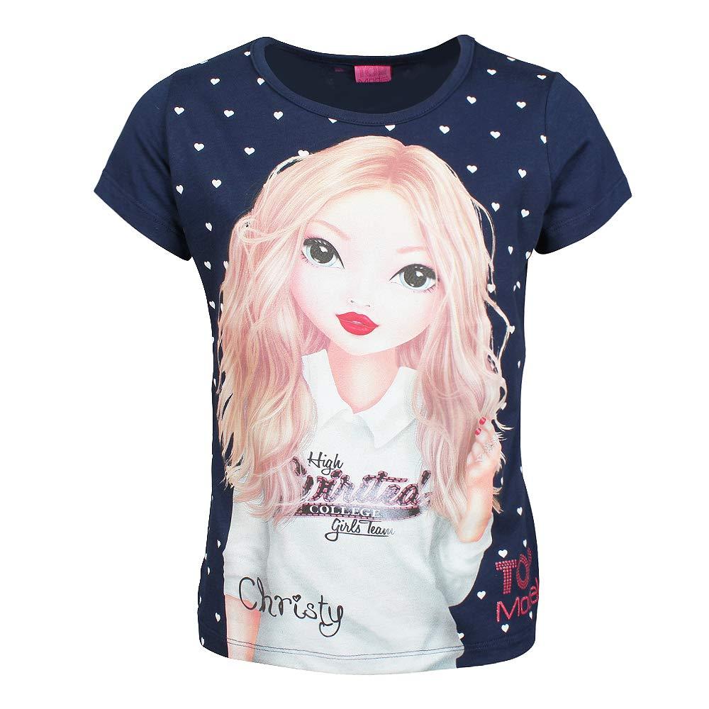 Top Model Filles T-Shirt Bleu