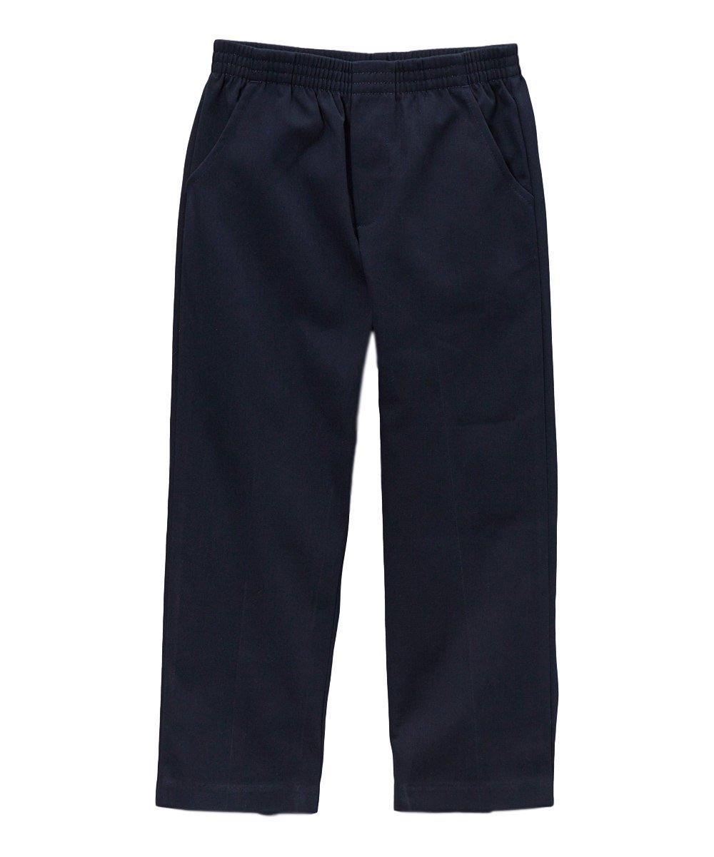 unik Boy's Uniform All Elastic Waist Pull-on Pants BU03 Navy6