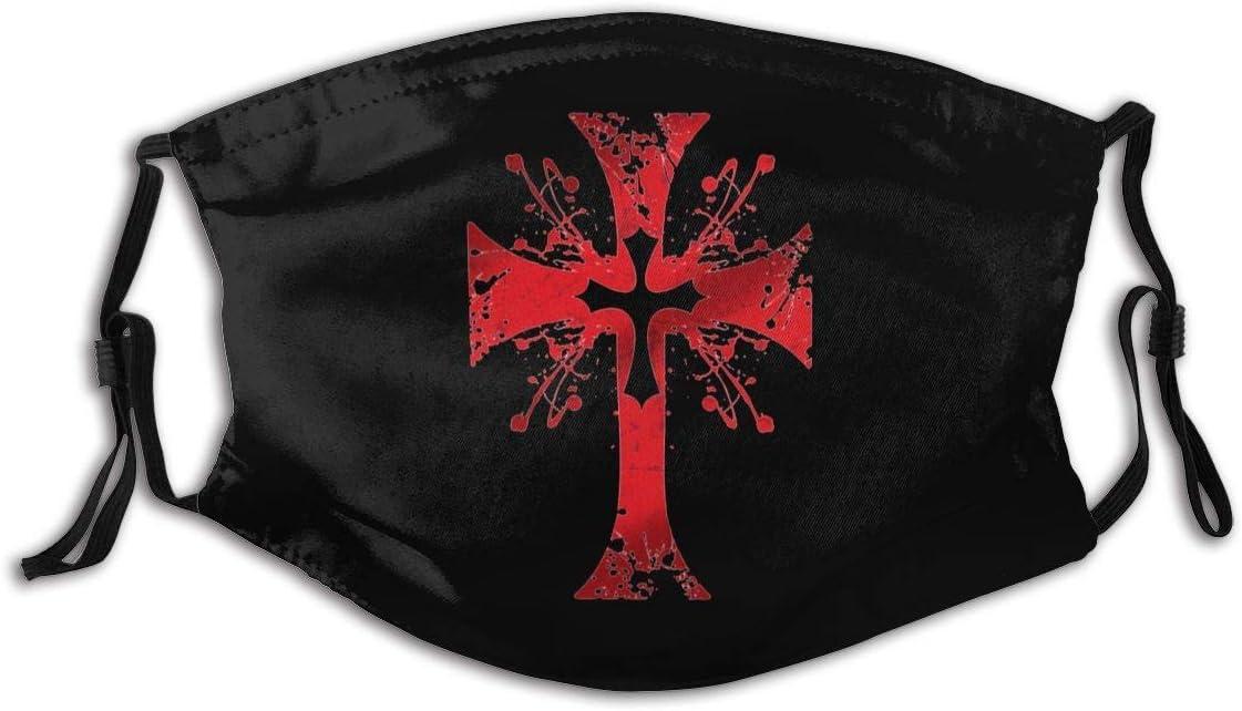 Caballero 'S Cruz templaria al Aire Libre decoración Facial Protectora 5 Capas filtros de carbón Activado Hombres Adultos Mujeres Bandana