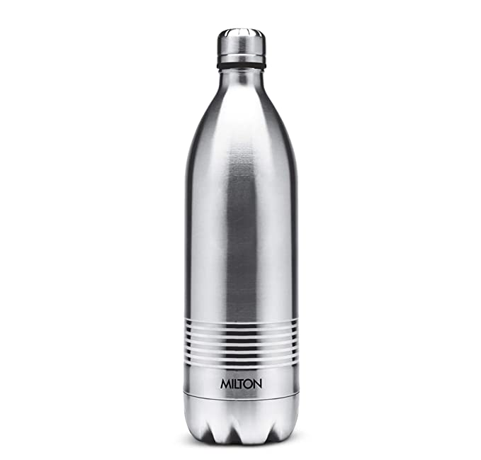 Milton Thermosteel Duo Deluxe Vacuum Insulated Flask, 1L  Silver  Thermos   Vacuum Flasks