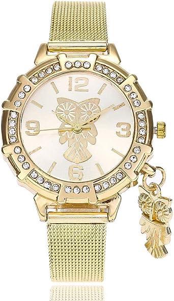 Reloj de Moda Coreano Correa de Malla de Acero Reloj búho ...